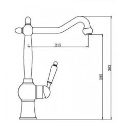 Смеситель KAISER Stone 61233 для кухни схема