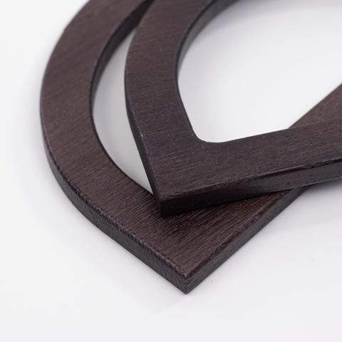 Деревянные ручки (массив ясеня) для сумки N23 темно-коричневые