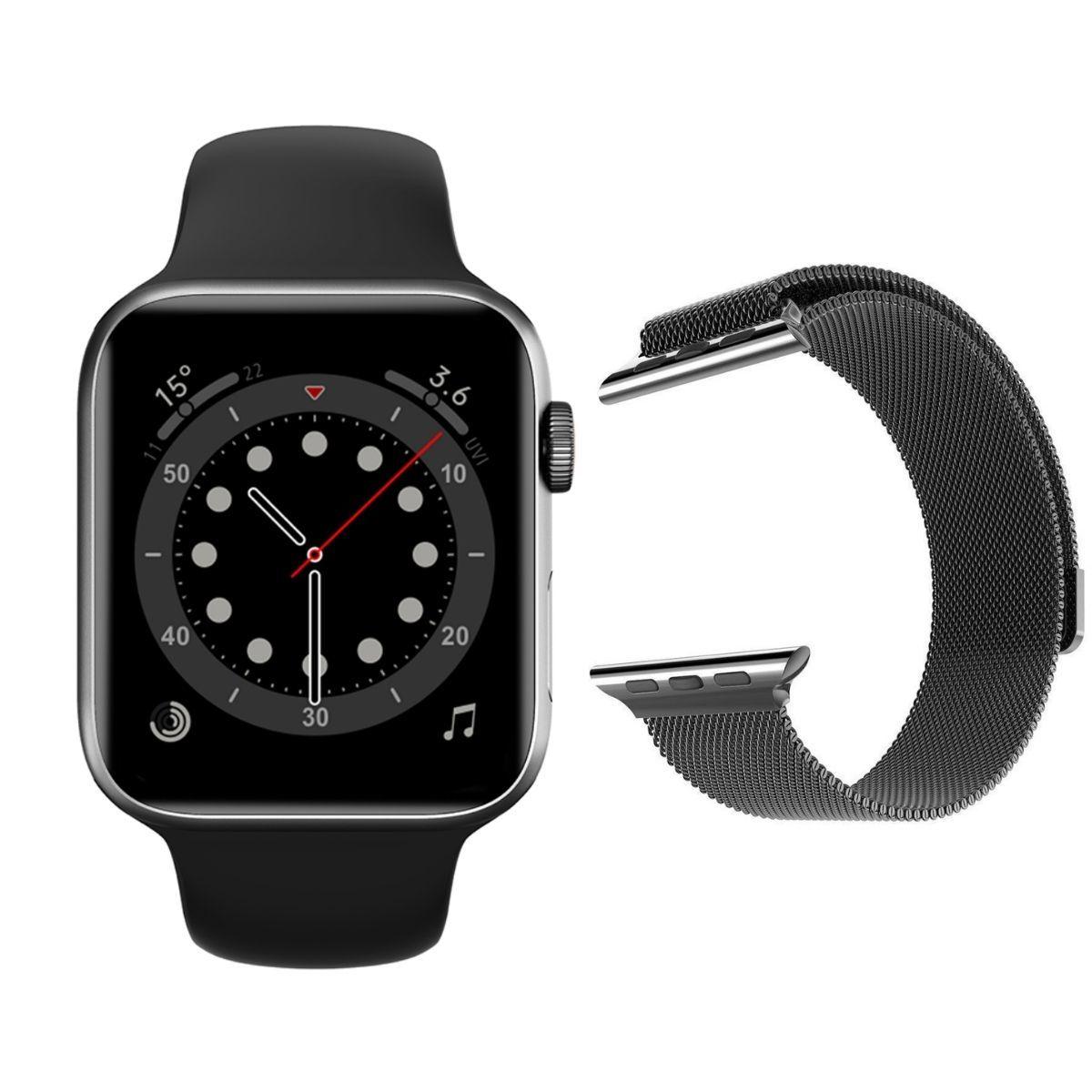Смарт часы и браслеты Часы Smart Watch IWO 13 Lite (черные) с Миланским браслетом Milanese_loop_IWO13L__1_.jpg