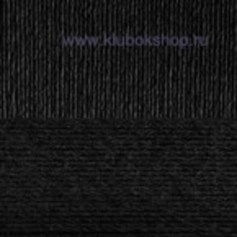 Пряжа Вискоза натуральная Пехорский текстиль черный 02