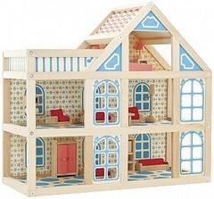 Кукольный домик из дерева МДИ 3 этажа расписной