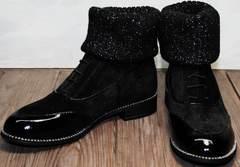 Замшевые ботинки женские осенние Kluchini 5161 k255 Black