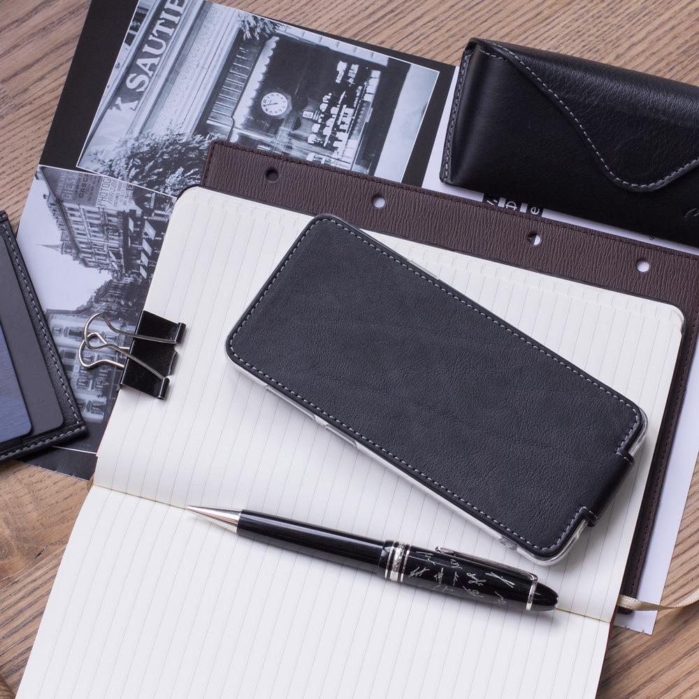 Чехол для Samsung Galaxy S9 Plus из натуральной кожи теленка, черного цвета