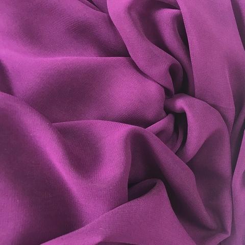 Шифон шелковый фиолетовый 1139