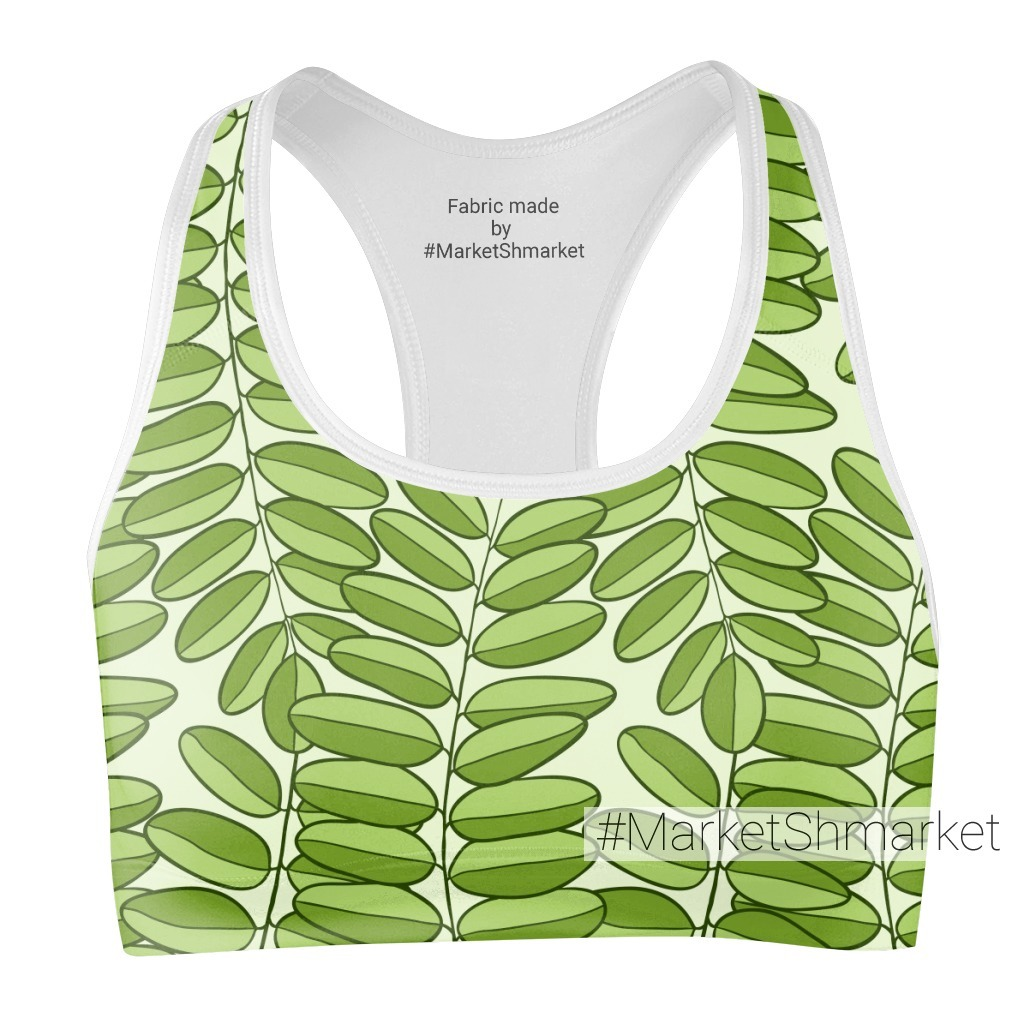Зеленая листва акации