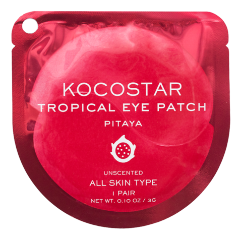 Kocostar Гидрогелевые патчи для глаз Питахайя 1 пара / Tropical Eye Patch (Pitaya) Single