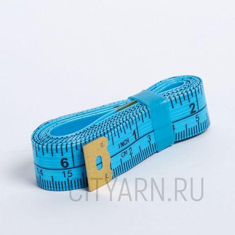 Сантиметровая лента 150см/60 дюймов, ярко-голубая