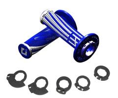 Грипсы ODI EMIG PRO V2 Lock-On H36EPUW Синий/Белый