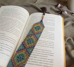 Dəri əlfəcin \  Кожаная закладка \ Leather bookmark (mavi)