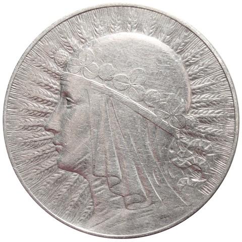 5 злотых Польша Ядвига 1933 год VF-XF