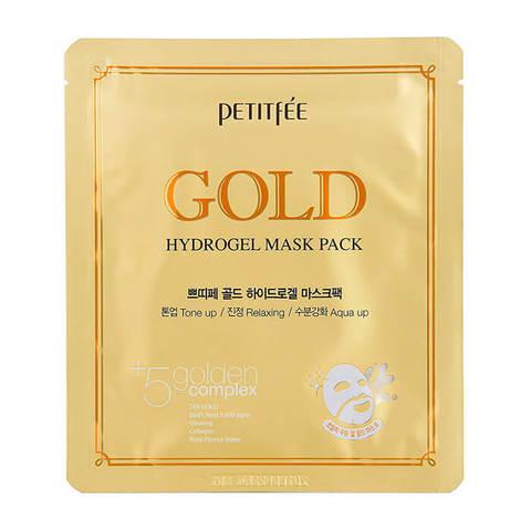 Маска Petitfee Гидрогелевая для лица с золотом