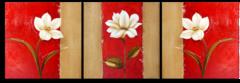 """Модульная картина """"триптих цветы"""""""