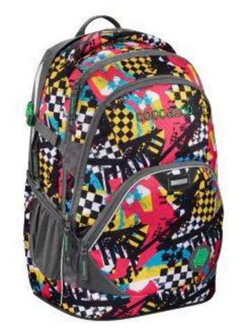 Рюкзак Coocazoo EvverClevver2 Checkered Bolts серый/красный