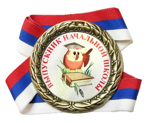 Медаль выпускнику начальной школы (сова + книга)