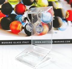 Серьги из муранского стекла со стразами Allegra Ca'D'oro Cobalt Blue CC060OB