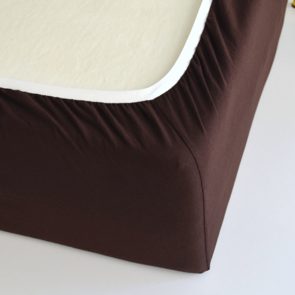 TUTTI FRUTTI шоколад - Двуспальная простыня на резинке