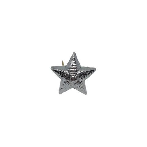 Звезда на погоны мет. 13 мм. риф. серебр.