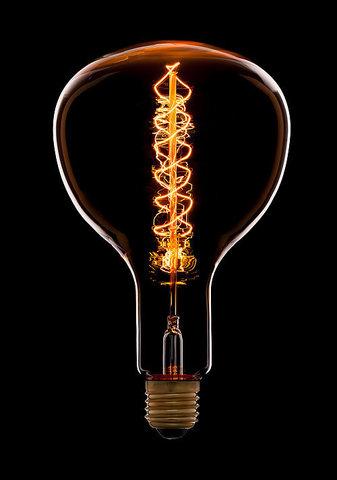 Ретро лампа Эдисон R180F5 Spiral