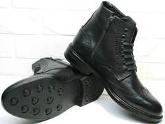 Модные зимние мужские ботинки с мехом кожаные LucianoBelliniBC3801L.