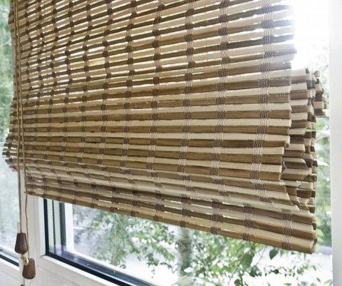 Бамбуковая римская штора Уна коричневый