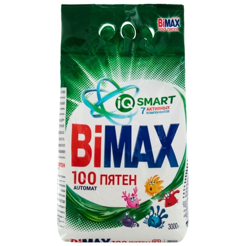 Стиральный порошок BiMAX 100 пятен автомат 3 кг м/у Нефис РОССИЯ