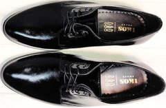 Свадебные туфли мужские черные лаковые Ikoc 2118-6 Patent Black Leather.