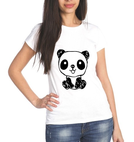 Футболка женская Панда