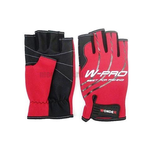 Перчатки Wonder красные без пальцев WG-FGL / размер М