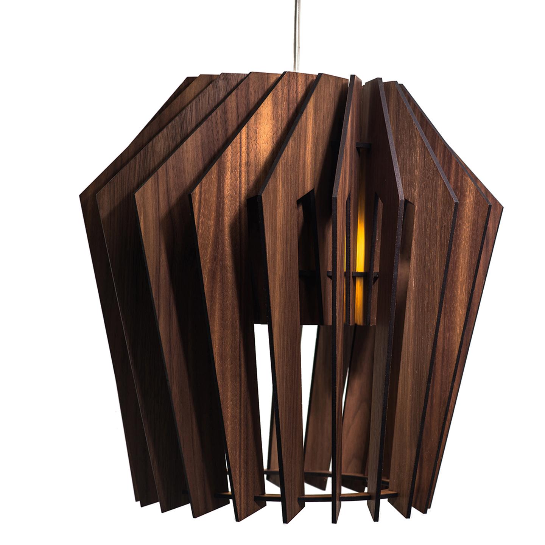 Подвесной светильник Woodled Турболампа, большой