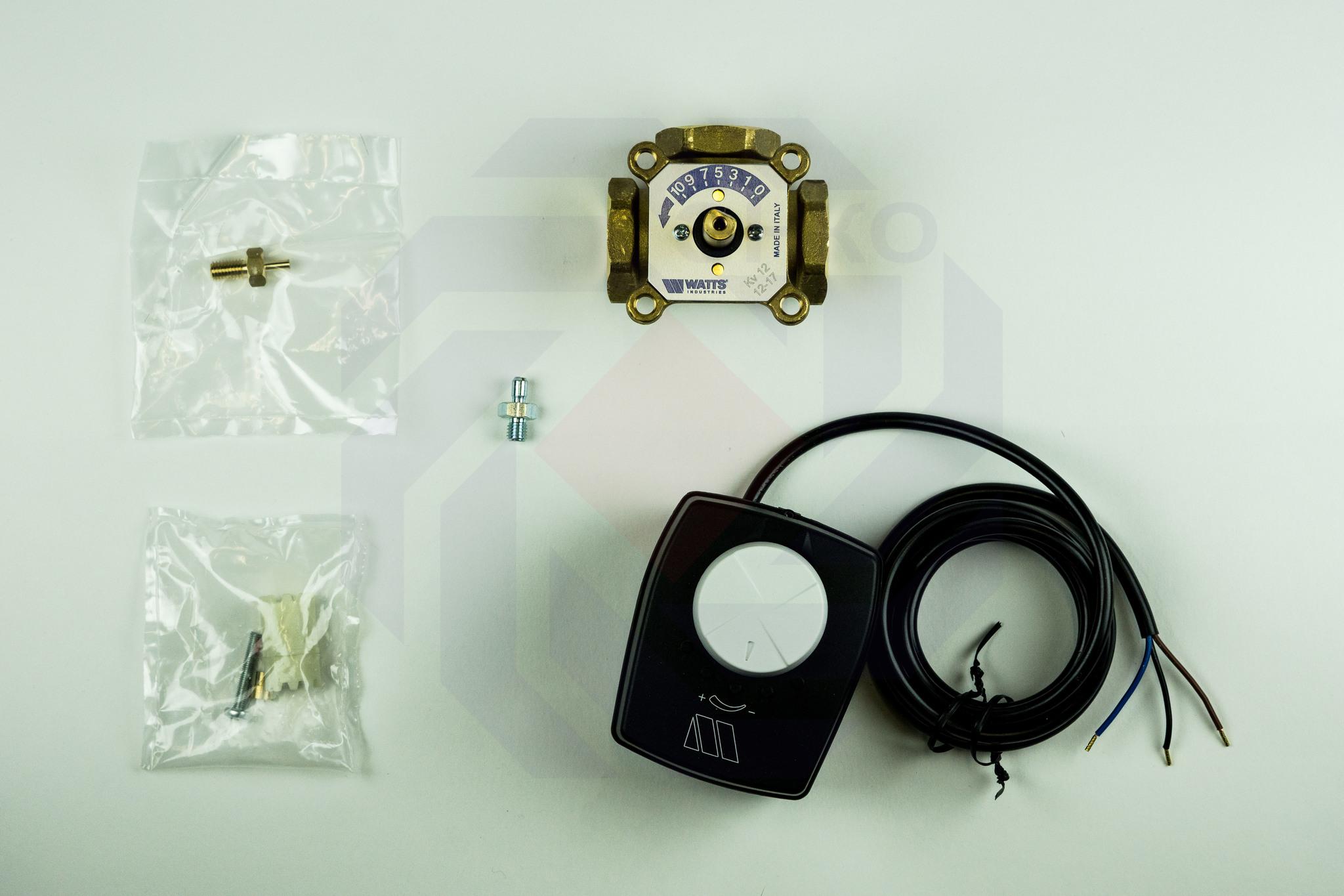 Клапан поворотный трехходовой с электроприводом WATTS V3GB 1