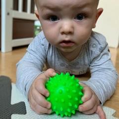 Сенсорный мячик Hencz Toys Синий 1 шт