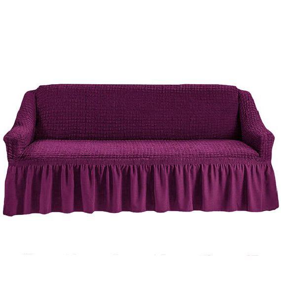 Чехол на четырехместный диван, фиолетовый