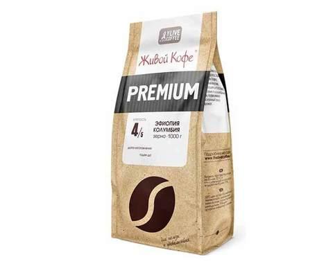 Кофе в зернах Живой Кофе Espresso Premium, 1 кг