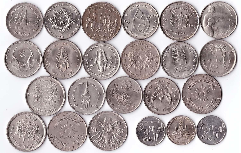 Набор из 23 монет 1 бат - Таиланд