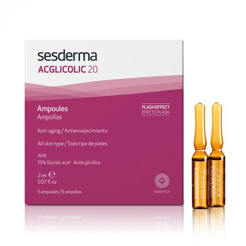 SESDERMA | Средство в ампулах с гликолевой кислотой / ACGLICOLIC 20 Ampoules, (5 шт по 2 мл)
