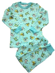 24D-9 пижама детская, мятная