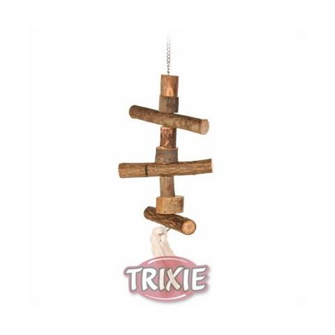 Trixiе 5870 Игрушка деревянная д/попугая на цепочке 40см