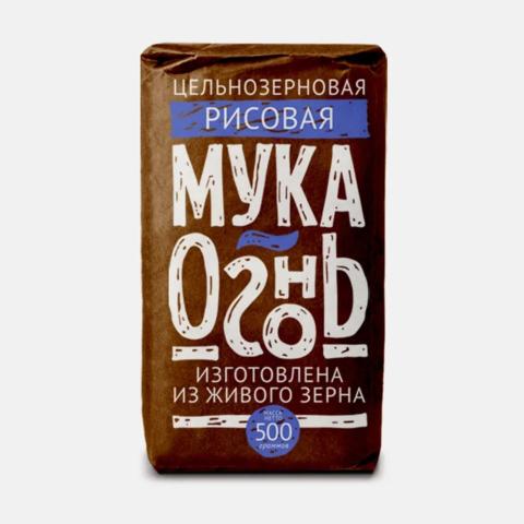 Мука Огонь рисовая цельносмолотая, 500 гр. (Образ жизни)