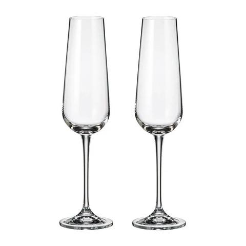 Набор бокалов для шампанского Crystalite Bohemia Ardea/Amudsen 200 мл, 2 шт