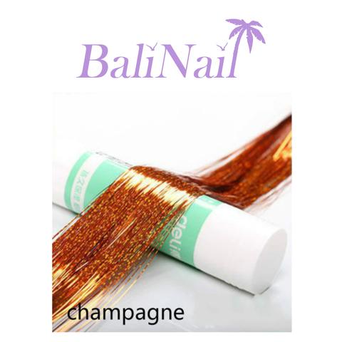 Блестящие пряди (нити) для волос #6 (бронза голограф.)