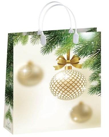 Новогодние подарочные пакеты 32x42+10 из мягкого пластика