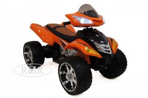 Электроквадроцикл Rivertoys E005KX-A оранжевый кожа+надувные колеса