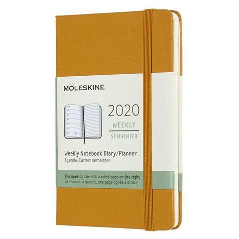 Еженедельник Moleskine CLASSIC WKNT Pocket 90x140мм 144стр. желтая спелая дыня