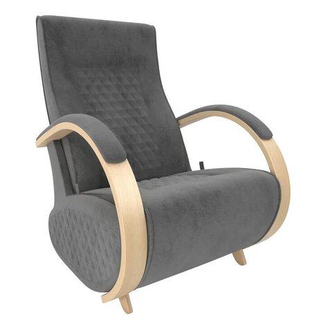 Кресло-глайдер Balance Balance-3 с накладками, натуральное дерево/Verona Antrazite Grey, 014.003
