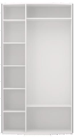 Шкаф для одежды трехдверный Виктория 9 с зеркалом Ижмебель белый глянец