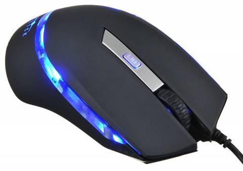 Мышь Оклик 715G черный оптическая (1600dpi) USB (6but)