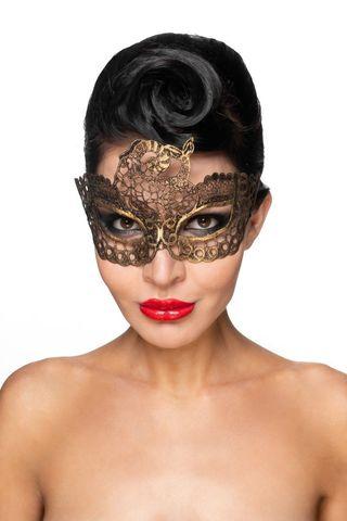 Золотистая карнавальная маска  Этамин