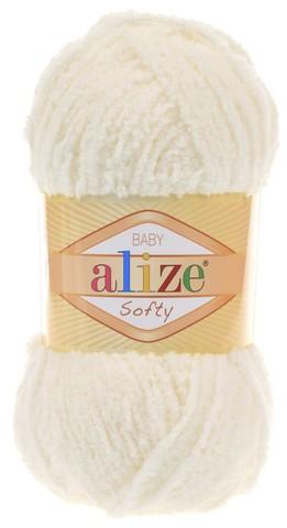Пряжа Alize SOFTY 62 молочный