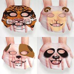 Хит продаж! Tiger Разглаживающая тканевая маска для лица Animal Face,30 гр
