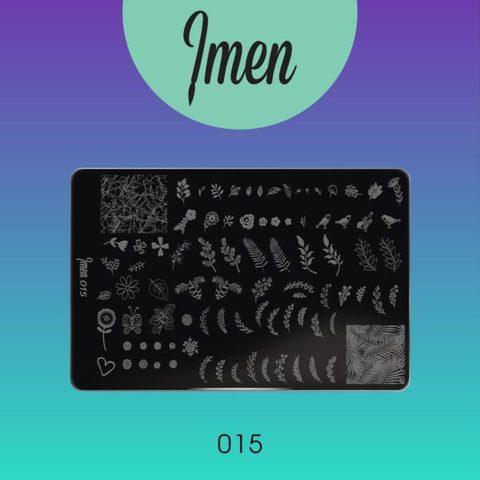 Пластина Imen для стемпинга #015